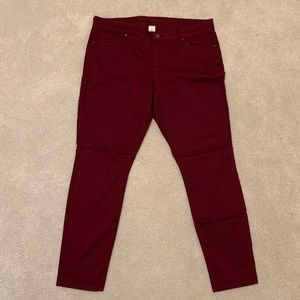 NWOT Arizona Jean Co Dark Red Maroon Skinny Jeans